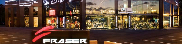 Fraser Motorcycles in Sydney - Front Night View